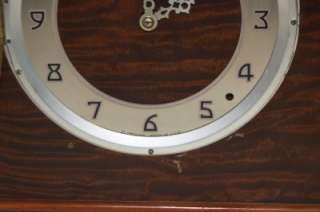 Vintage Plymouth 3669 Art Deco Mantle Table Clock Chime