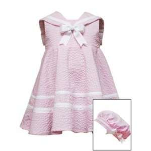 Pink Sailor Dress   Nautical Dress with Hat (18 Month