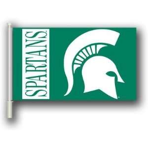 NCAA Michigan State Spartans 11x18 Car Flags with Bracket