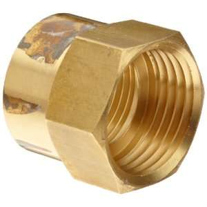 Anderson Metals Brass Garden Hose Fitting, Connector, 3/4 Female Hose