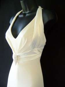 MARY.L COUTURE Ivory Wedding Jersey Formal Gown 8 NEW