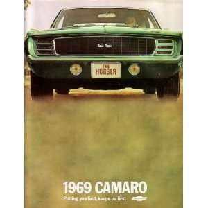 1969 CHEVROLET CAMARO Sales Brochure Literature Book