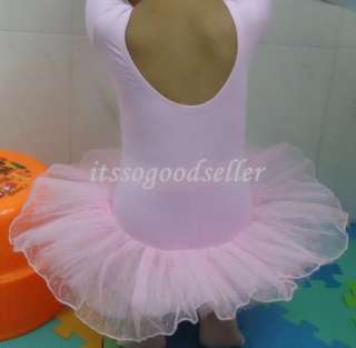 Girl Party Leotard Dance Ballet Tutu Skirt Dress 2 8Y