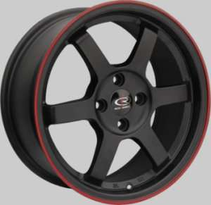 GRID BLACK RIMS WHEELS 16x7 +40 4x100 CIVIC FIT MINI COOPER INTEGRA XB