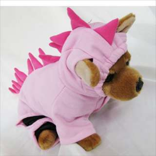 Dinosaur Pink Costume pet dog clothes APPAREL Chihuahua