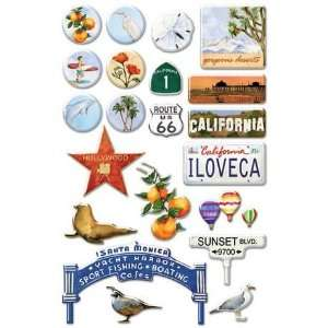 Southern California Epoxy Stickers Arts, Crafts & Sewing