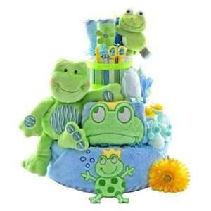 Baby Gift Basket Friendly Frogs 3 Tier Diaper Cake Baby