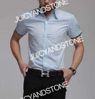 Mens Casual Slim Fit Dress Shirts 5 Color 4 Size C104