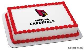 Arizona Cardinals Edible Image Icing Cake Topper