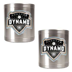 Houston Dynamo 2pc Stainless Steel Can Holder Set Kitchen