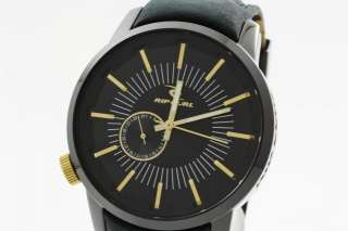 RIP CURL Detroit Mens Black Leather Watch A2297MID NEW