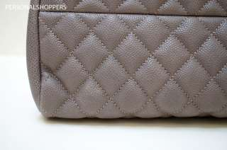 CHANEL JUST MADEMOISELLE JM TAUPE CAVIAR LEATHER BOWLER BAG