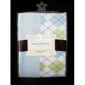 Wendy Bellissimo ARGYLE Changing Pad Cover Baby