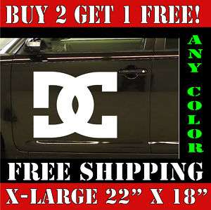 Large DC Shoes Car & Truck Vinyl Decal Sticker BIG HQ