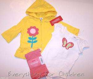 Girls GYMBOREE Happy Rainbow lot 3 6 NWT jacket outfit