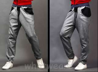 Fashion Mens Casual Sport Trousers Harem Pants Black Z1223