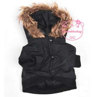 Captain Thick Padded Coat Hoodie Jacket Dog Clothes Apparel 5 Size