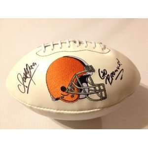 Cleveland Browns SCOTT FUJITA Signed Autographed Logo Football INSC