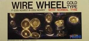 Fujimi 1/24 F 235 R17R255 Wire Wheel & Tire Set 2 Wide