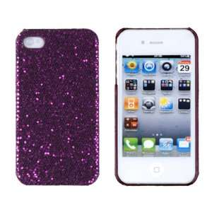 Dark Purple Sparkles Case for Apple iPhone 4, 4S (AT&T