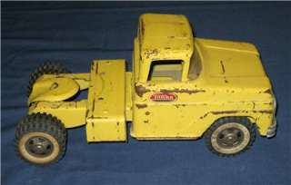 Vintage TONKA Truck Trailer CAR TRANSPORTER Carrier Hauler Metal Toy