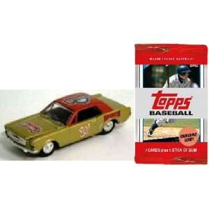 MLB 1964 Ford Mustang Car with 10 Packs of Trading Cards