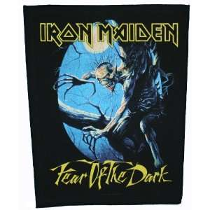 XLG Iron Maiden Fear Of The Dark Woven Back Jacket Patch