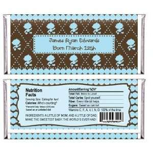 Baby Boy (Blue & Brown)   Personalized Candy Bar Wrapper Baby Shower