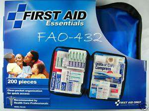 200 pc Emergency First Aid Kit W/Soft Case FAO 432 092265324328