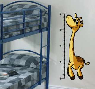 Giraffe Growth Chart Wall Decal Deco Art Sticker Mural