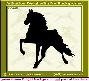 Tennessee Walker Horse Trailer Window Decal Sticker 465