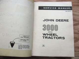 John Deere 3010 Industrial Wheel Tractor Service Manual