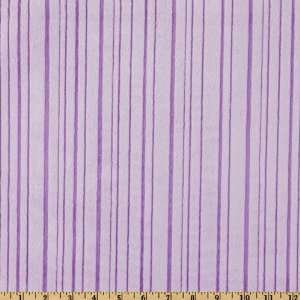 60 Wide Minky Line Cuddle Lavender Fabric By The Yard