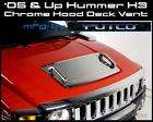 05 09 Hummer H3 Chrome Hood Deck Vent With Handles