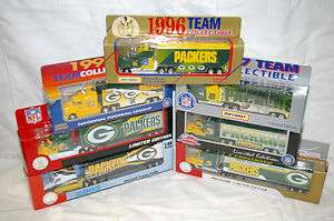 NEW NFL GREEN BAY PACKERS Die cast Truck Trailer Collectibles 1996 TO