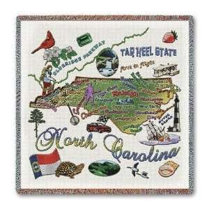 North Carolina State Lap Square   53 x 53 Blanket/Throw