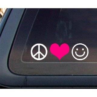 Live Laugh Love Car Decal / Sticker   White Automotive