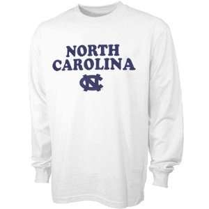 North Carolina Tar Heels (UNC) Youth White School Mascot Long Sleeve T