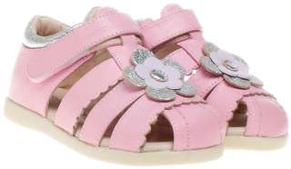 Little Blue Lamb Girls Kids Childrens Toddler Leather Sandals Shoes