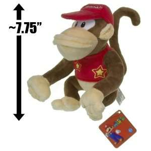 Diddy Kong ~7.75 Plush   Super Mario Bros Plush Series  Toys & Games