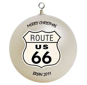 Personalized Route 66 Christmas Ornament Gift