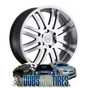 22 Inch 22x9.5 Black Rhino wheels Zambia Gunmetal w/Machine Cut Face