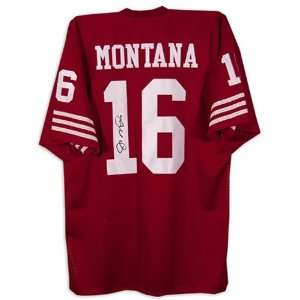 Joe Montana Autographed Replica Team Color Jersey