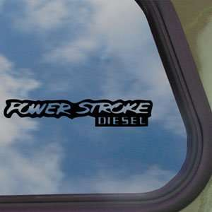 Power Stroke Diesel 4x4 Black Decal Truck Window Sticker