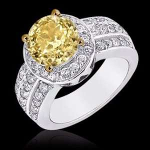 carat yellow canary diamonds engagement ring 14K gold