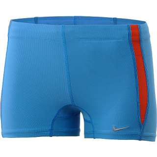 Nike Womens Team Race Boy Shorts Running Tennis Fitness Workout Blue