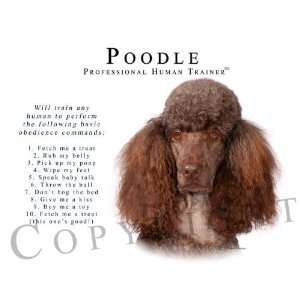 Poodle BROWN Human Trainer Mouse Pad Dog Mousepad