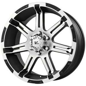 V ROCK WHEELS OVERDRIVE MATTE BLACK MACHINED SPOKES. 6