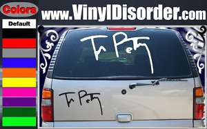 Tom Petty Signatur Band Vinyl Car o Wall Decal Sticker