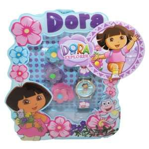 the Explorer Kid Quartz Watch & Hair Pony Tails Bonus Dora Storage Bag